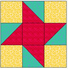 Friendship Star Quilt Block (Alternate with snowball or 9-patch)