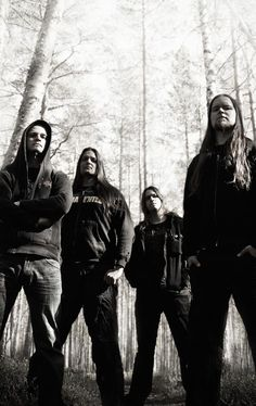 Insomnium.  Melodic death metal from Finland. Very beautiful and inspiring music this band produces \m/