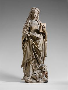 Saint Catherine of Alexandria, by workshop of Jan Crocq. Date: ca. 1475–1525, made in Lorraine, France.