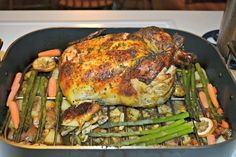 Oven Roasted Chicken with Potatoes and Vegetables #SundaySupper #FamilyDinnerTable - Hezzi-D's Books and Cooks