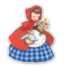 Vintage Diecut - Little Red Riding Hood 3 [VI-40GR51] : Pretty Little Studio, Simple Vintage Whimsical fun Scrapbooking Supplies