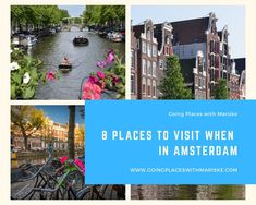 8 Places to visit when in Amsterdam You cannot go to Amsterdam and not visit these amazing places. Amsterdam Canals, Amsterdam City, Passport Travel, Sustainable Tourism, Italy Travel, Amazing Places, Travel Pictures, Netherlands, The Good Place