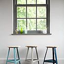 Metal Stool Pastel Green