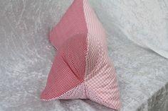 Kissen - Leseknochen Kissen rot rosa Punkte kariert weiß - ein Designerstück von trixies-zauberhafte-Welten bei DaWanda