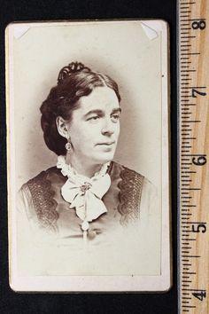 Antique CDV Photo Lovely Lady Wearing Jewelry Large Hair Comb Taken in Norwich | eBay