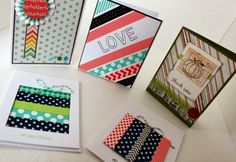 Taylor Stamped: Washi Tape Cards for World Card Making Day