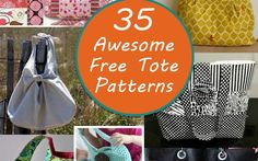 35 awesome and adorable free tote bag patterns to sew