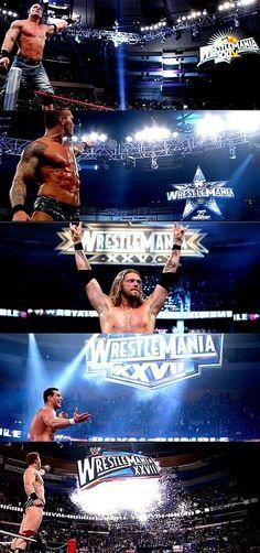 Royal Rumble winners: John Cena, Randy Orton, Edge, Alberto Del Rio & Sheamus ❤