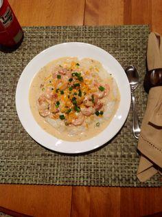 Shrimp & Grits- Paula Deen's Recipe but with beacon!