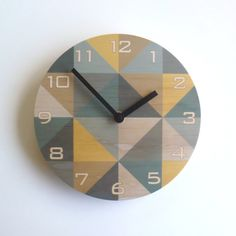 These wall clocks are made from sustainably produced Radiata Pine plywood with the design digitally printed directly on the wood. Plywood Walls, Pine Plywood, Clock Art, Diy Clock, Clock Ideas, Clocks Fall Back, Staff Lounge, Wood Clocks, Home Decor