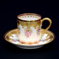 #Haviland  Royal #Limoges - early 1900's, #tea cup and saucer.