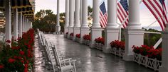 I've rocked on this porch & loved every moment... oh to go again.    Mackinac Island . The Grand Hotel