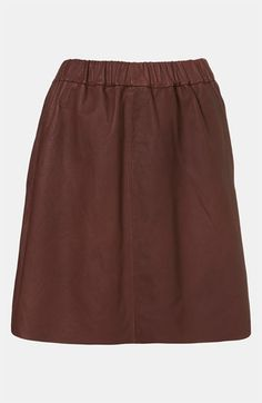 Topshop Boutique Leather Skirt available at #Nordstrom