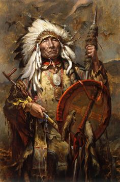 Chief Big Mane- (Brulè Lakota) by William Ahrendt Native American Warrior, Native American Beauty, American Indian Art, Native American History, American Indians, Native American Paintings, Native American Pictures, Indian Paintings, Native Indian