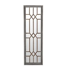Create a statement reflection with the help of our Geometric Wood Wall Mirror. It features a stunning, diamond-shaped overlay in a soft gray wash! Window Grill Design Modern, Grill Door Design, Gate Design, Window Design, How To Clean Mirrors, Wood Frame Construction, Mirrors Wayfair, Wall Mounted Mirror, Framed Mirrors