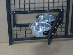 Dog Kennel Feeders by Options Plus Dog Kennels. swing out food and water bowls $75