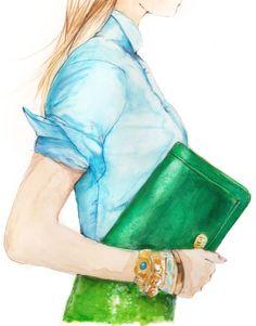 Danielle Malmgren, Fashion and Textile Designer in New York, NY Fashion Sketchbook, Fashion Sketches, Fashion Illustrations, Figure Sketching, Fashion Forever, Watercolor Fashion, Ralph Lauren, Fashion Art, Fashion Design