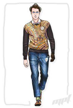 Fashion Illustration MPF. #voguemagazine #mpfisme #moda #madeinitaly #couturedress #vogue #fashionstyle #fashionblogger #fashionillustration #fashionista #denim #sportswear #man