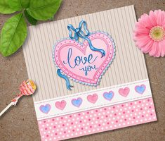 Love you Printable Valentines Day Card Instant Download Love