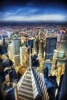 Chicago skyline celebrity bldg by spudart (print image)
