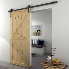 Heavy Duty Sturdy Sliding Barn Door Hardware Kit -Includes Step-By-Step Installation Instruction Fit 1 inch to 1 inch Thickness Door Panel (Arrow Shape Hanger), Black Interior Stairs, Home Interior Design, Barn Door Closet, Sliding Barn Door Hardware, Barn Doors, Internal Doors, Western Decor, Wooden Doors, Tall Cabinet Storage