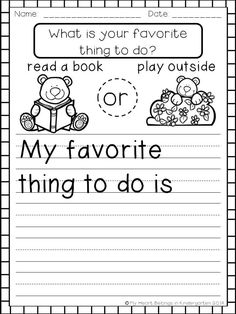 FREEBIE! Introduce your beginning writers to the idea of opinion writing with this mini set of printables.