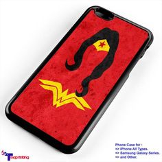 wonder woman silhouette - Personalized iPhone 7 Case, iPhone 6/6S Plus, 5 5S SE, 7S Plus, Samsung Galaxy S5 S6 S7 S8 Case, and Other