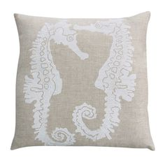 I pinned this Seahorse Pillow from the Shorely Chic event at Joss and Main!