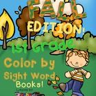 Create a book with this 9 Color by Sight Word pages using all the 41 First Grade Dolch Sight Words.  A cover page for the book and a page with a li...