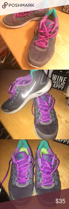 Nike lunarglide shoes Nike grey lunarglide shoes Nike Shoes Athletic Shoes