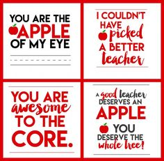 Free Apple for Teacher Printables