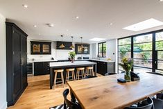 Kitchen Extension in South East - Ideas and Inspiration - Bespoke Kitchens for Living In. Made in Kent, UK Kitchen Diner Extension, Open Plan Kitchen Diner, Open Plan Kitchen Living Room, Kitchen Family Rooms, Kitchen Dinning, Kitchen On A Budget, New Kitchen, Kitchen Decor, Kitchen Extension Family Room