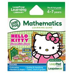 LeapFrog Learning Game Hello Kitty Sweet Little Shops works with LeapPad tablets and LeapsterGS -- Want additional info? Click on the image. #20likes