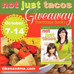 Not Just Tacos (a yummy cookbook review and giveaway). An awesome go along for geography! #homeschool
