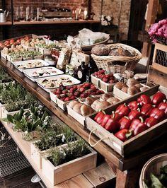 food market + good taste