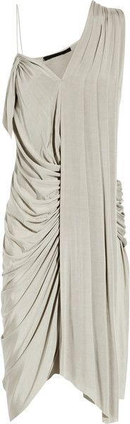 Draped Dress - Lyst