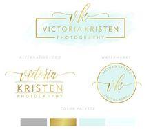 Brandstempel Paket, Brandstempel Kit, vorgefertigte Logo, Aquarell Logo, Logo-Design, Gold-Logo, Mint-Logo, Calligpaphy, Fotografie-Logo, Hochzeit-Logo