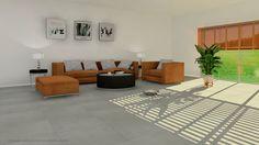 Ambiente realizado con Modelo Cemento Gris 60x60 Porcelanico Innova Tile. innovatile@innovatile.es