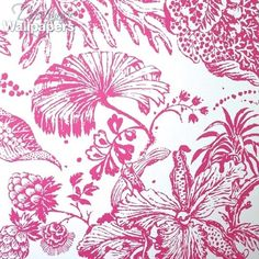 La Favorite is a divine large-scale botanical design.  In bright modern colours on crisp white or cream to create a fresh and exotic floral effect.