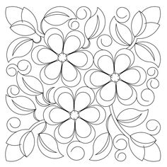 computerized, digitized, block quilting pattern for a longarm quilting machine Cushion Embroidery, Floral Embroidery Patterns, Hand Embroidery Designs, Embroidery Stitches, Machine Embroidery, Quilting Projects, Quilting Designs, Pop Art Wallpaper, Coloring Pages Inspirational