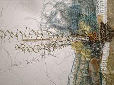 "Stéphanie Devaux Textus Inspiration for ""Oceans Deep"" Art Du Collage, Mixed Media Collage, Kunstjournal Inspiration, Art Journal Inspiration, Textile Fiber Art, Textile Artists, Mix Media, Art Doodle, Creative Textiles"