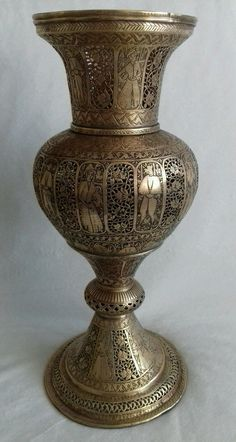 Rare-Antique-Brass-Candle-Lantern-Intricately-Engraved-Openwork pid=1