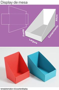 Paper Crafts Origami, Cardboard Crafts, Cardboard Model, Cardboard Display, Counter Display, Display Boxes, Carton Diy, Paper Box Template, Diy Papier