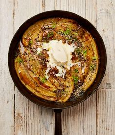 Miso's umami hit gives depth to these leeks with miso and chives, rösti-style braised eggs, and is the perfect foil in these sticky bananas with brown sugar and lime Yotam Ottolenghi, Ottolenghi Recipes, Miso Recipe, White Miso, Recipe Using, Missoni, Brown Sugar, Tapas, Recipes