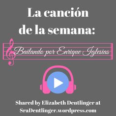One of the ways I am trying to improve my Spanish 2 course is to infuse it with music. The primary Spanish 1 teacher has a long list of songs that my students would repeatedly ask for during work … Spanish Songs, Spanish 1, How To Speak Spanish, Spanish Class, Spanish Lesson Plans, Spanish Lessons, Learning Spanish, Enrique Iglesias, Philosophical Thoughts