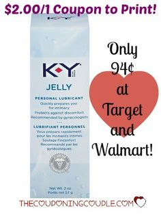 WooHoo! Print NOW! I know we all snicker but this is a great $2 coupon for K-Y Jelly! Only $0.94 at Walmart and Target!  Click the link below to get all of the details ► http://www.thecouponingcouple.com/21-k-y-jelly-coupon-cool-deals-target-and-walmart/  #Coupons #Couponing #CouponCommunity  Visit us at http://www.thecouponingcouple.com for more great posts!