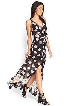 Rose & Lace Maxi Dress | FOREVER21 - 2000083354