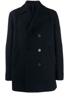 HARRIS WHARF LONDON HARRIS WHARF LONDON DOUBLE BREASTED COAT - BLUE. #harriswharflondon #cloth