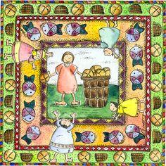 Parábolas para niños: Multiplicación de panes y peces