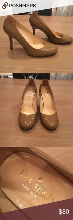 *sale Tan Patent Leather Kate Spade ♠️Pumps Sz 6.5 Tan/Nude Patent Leather Kate Spade ♠️ Pumps Sz 6.5. New without tag and never worn. Bought from TJ Maxx. Has mark as shown. Made in Italy. Bundle and save. kate spade Shoes Heels